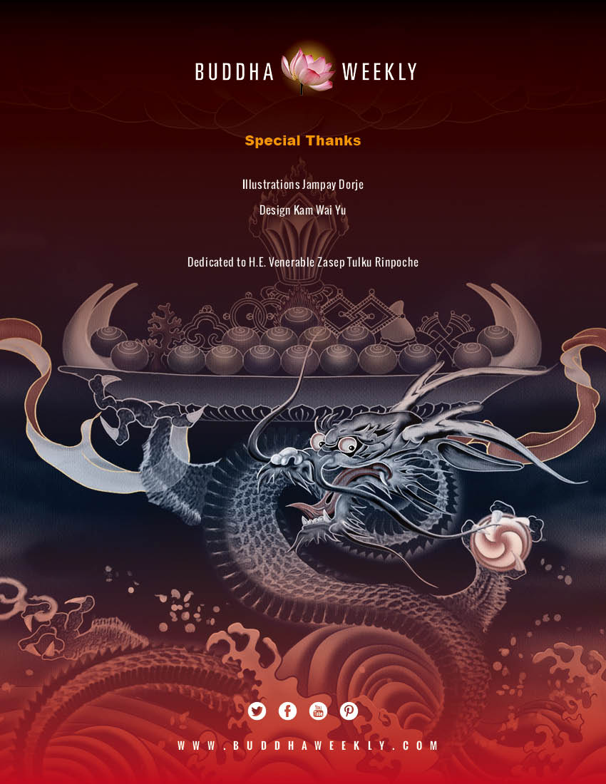 Lunar Calendar 2018 12 Buddha weekly back cover and credits