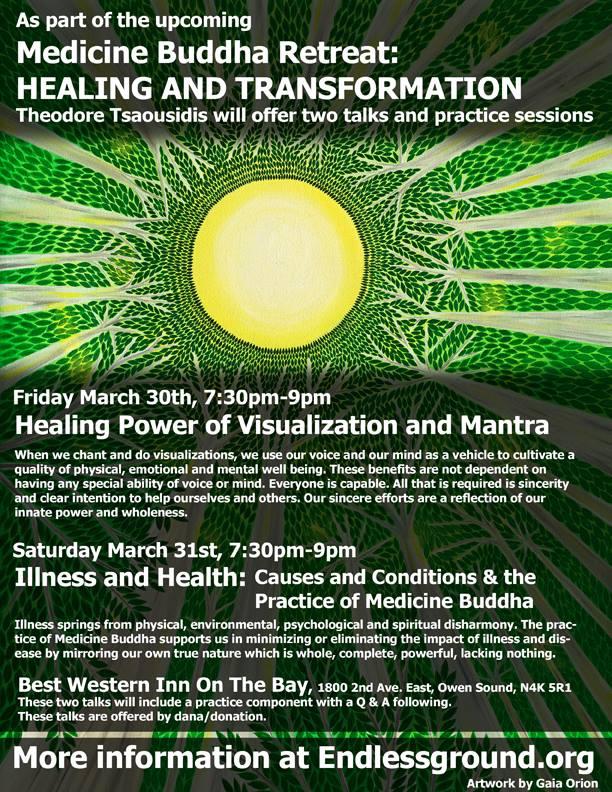 Theodore teaching events Medicine Buddha retreat
