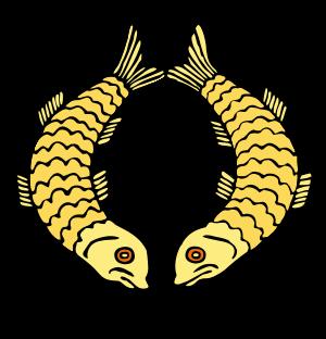 Two Golden Fish Buddhist Symbol