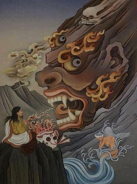 Wrathful deity practice