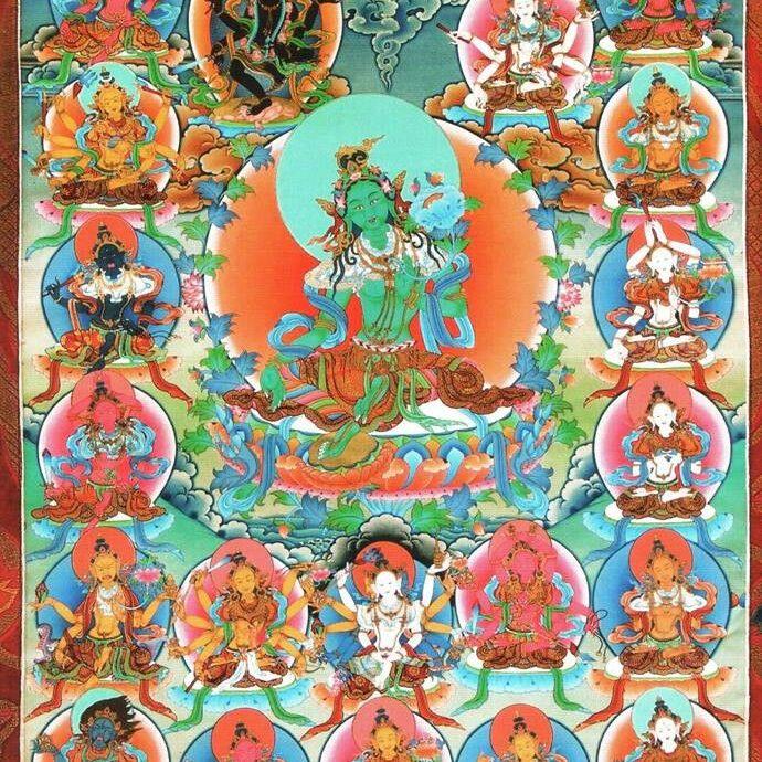 The 21 Taras according to the Surya Gupta visualizations.