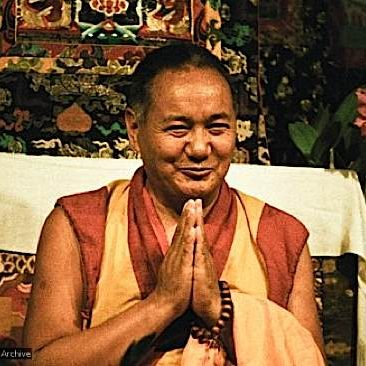 The much revered Guru Lama Yeshe. The second st