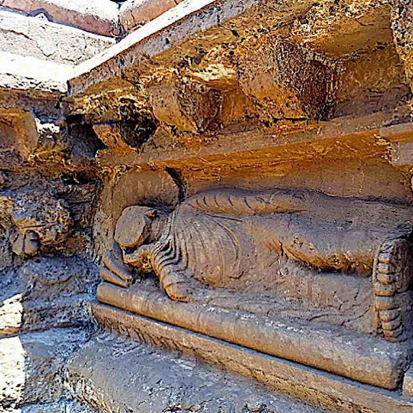 One of oldest Sleeping Buddha statues was discovered in late 2017 in Pakistan.