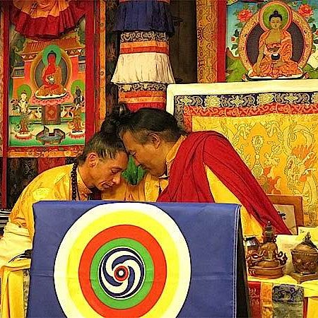 Teacher AlejAndro Anastasio with his teacher Dzogchen Khenpo Choga Rinpoche.