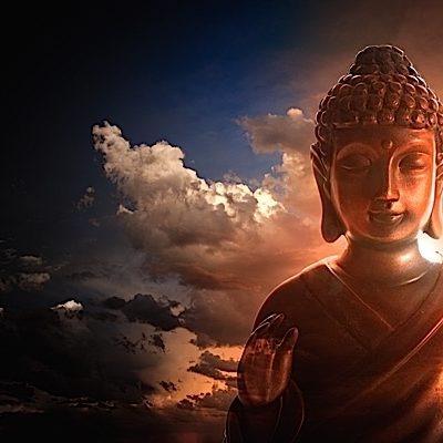 Buddha Nature is often described as the sun behind the clouds. The sun is always there, even if you can't see it. But when the visual obstruction disappears, the sun shines.