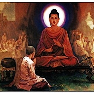 Buddha teaching the Dharma.