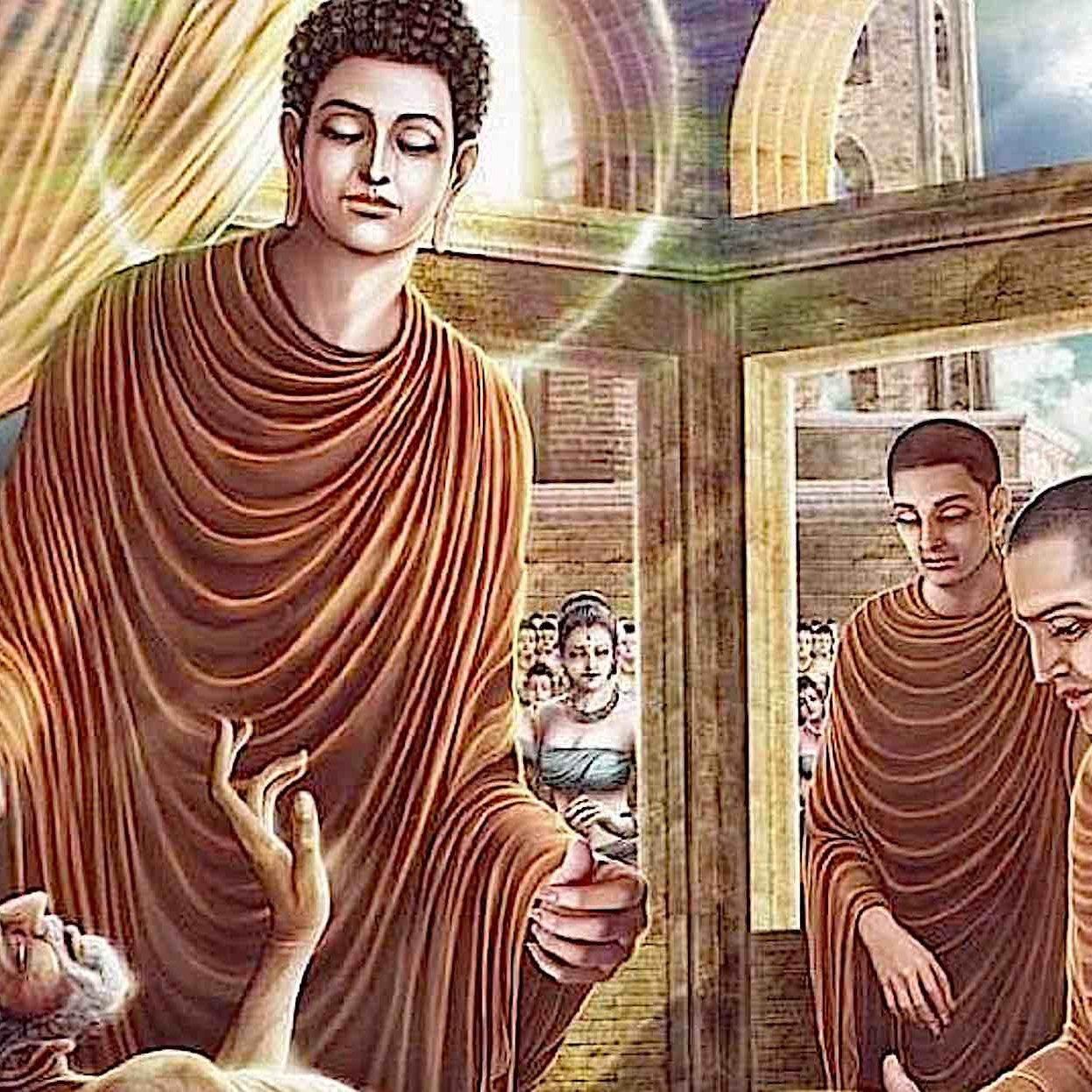 Buddha tending the sick.