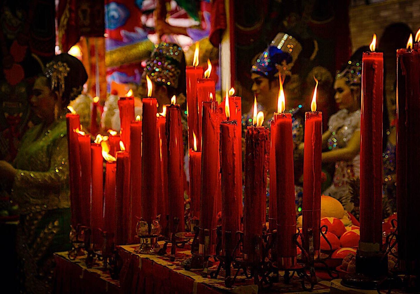 Chinese Buddhist Hungry Ghost Festival is usually in August in Buddhism.