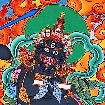 Black Manjushri is a meditation deity famous for effectiveness in healing meditations for cancer and Aids.