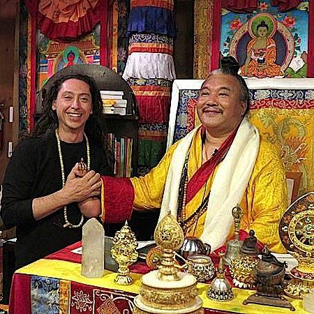 Teacher AlejAndro Anastasio and his Guru Dzogchen Khenpo Choga Rinpoche.