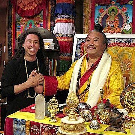 Teacher AlejAndro Anastasio and his Guru Dzogchen Khenpo Choga Rinpoche.