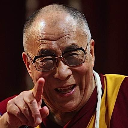 His Holiness the Dalai Lama at a teaching.