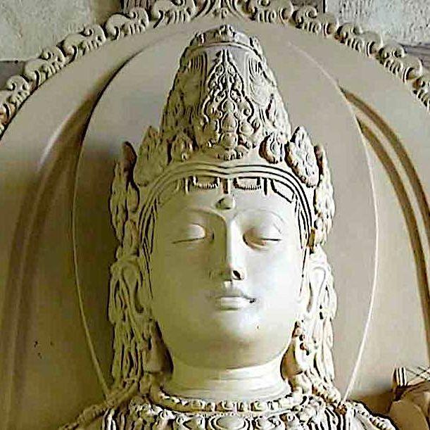Close up detail face of Prajnaparamita, Wisdom Mother.