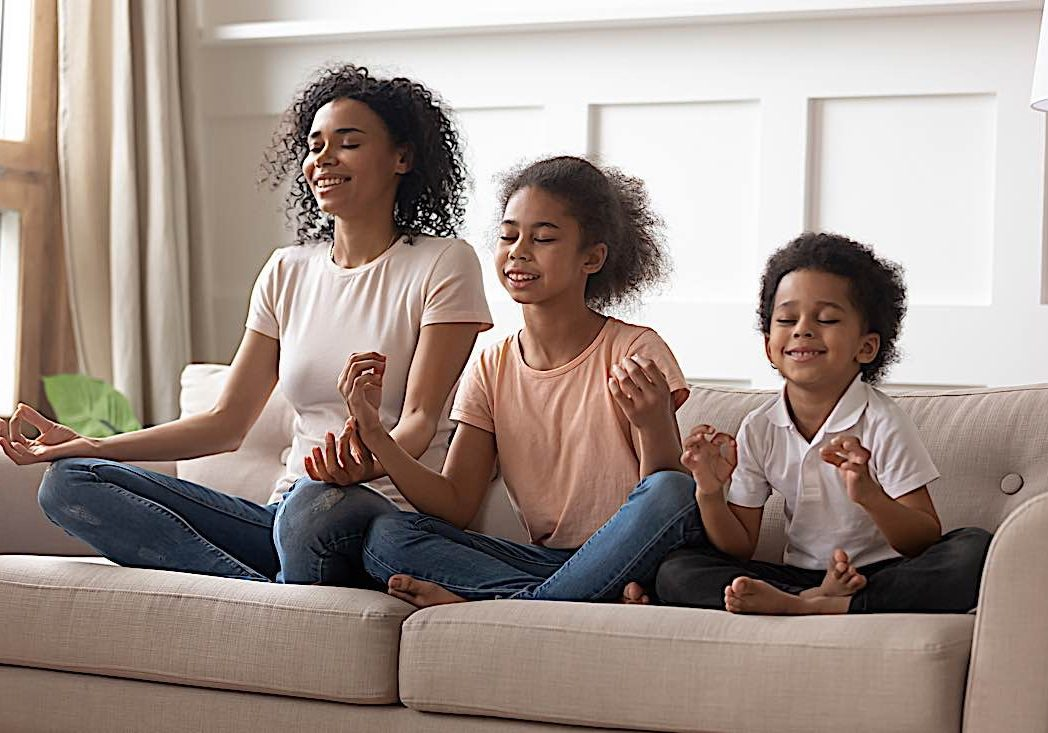 Family meditation. Children can benefit from meditation.
