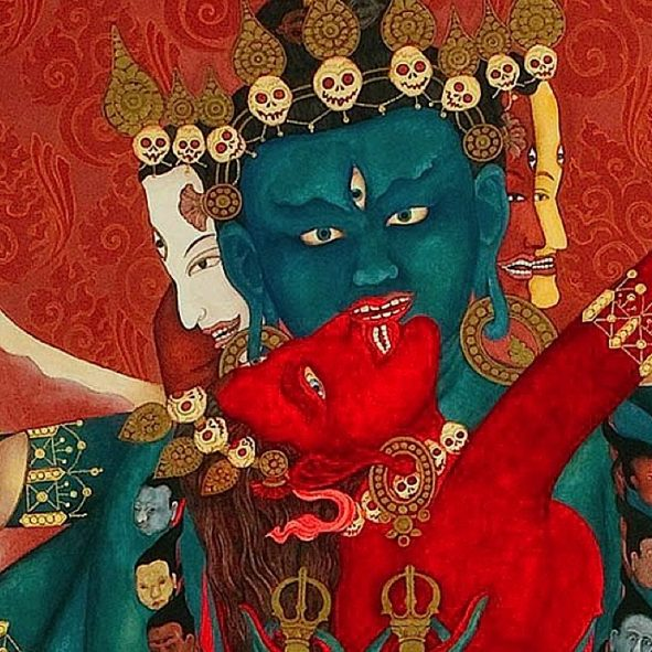 Buddha-Weekly-Feature image Chakrasmvara Heruka in union with Vajrayogini-Buddhism