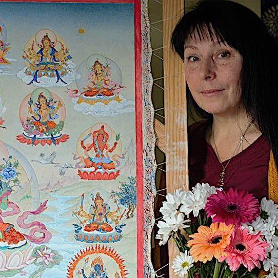 Thangka artist Angeli Shkonda has painted stunning Tara paintings in the Karma Gadri tradition for ten years.