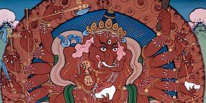 Buddha Weekly Ganapati 12 Armed Red Maharakta Buddhism 2 custom crop