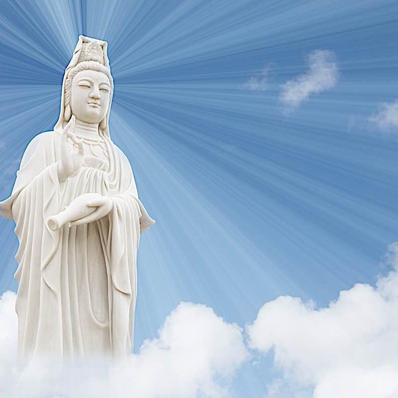 Guanyin Bodhisattva — Kuan Yin or Avalokiteshvara or Chenrezig — is synonomous with Metta (loving kindness) and Karuna (compassion.)