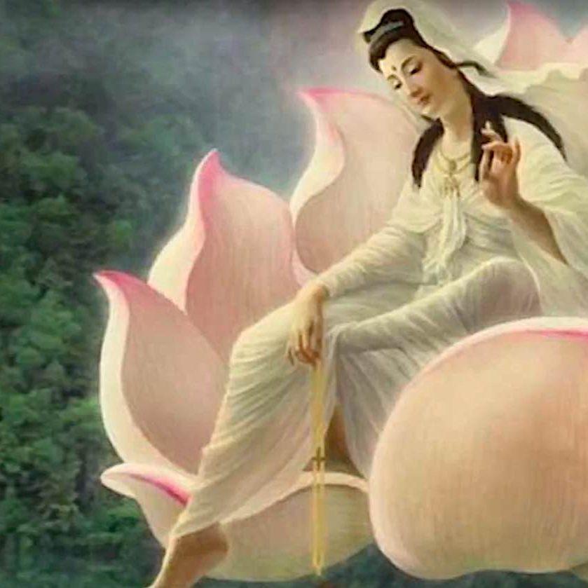 Guan Yin on a lotus.