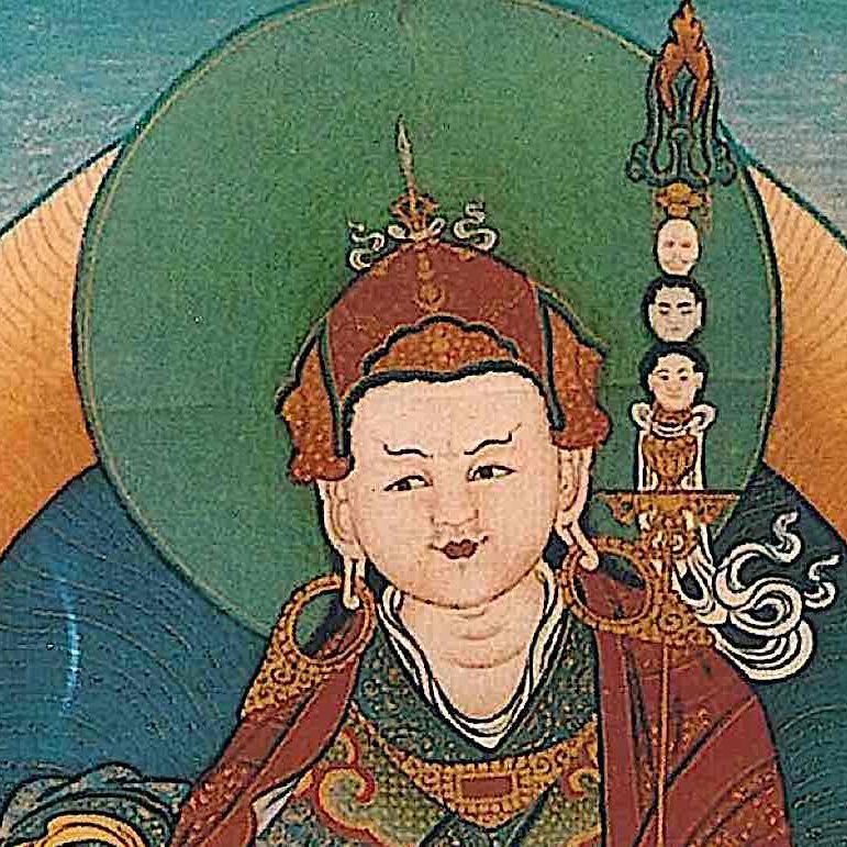 Guru Rinpoche Padmasambhava, the Lotus Born.