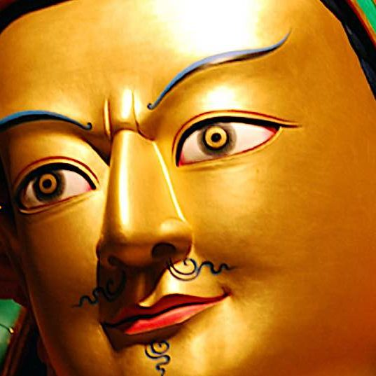 Guru Rinpoche, the Lotus Born enlightened Buddha, came to Tibet to bring the Dharma in the 8th century.