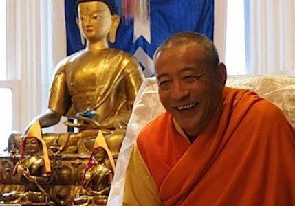 Venerable Acharya Zasep Tulku Rinpoche at Gaden Choling Toronto during a weekend retreat on Ngondro.