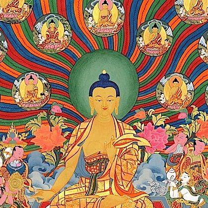 Buddha-Weekly-Horizontal Feature image Shakyamuni Buddha and 35 Buddhas-Buddhism