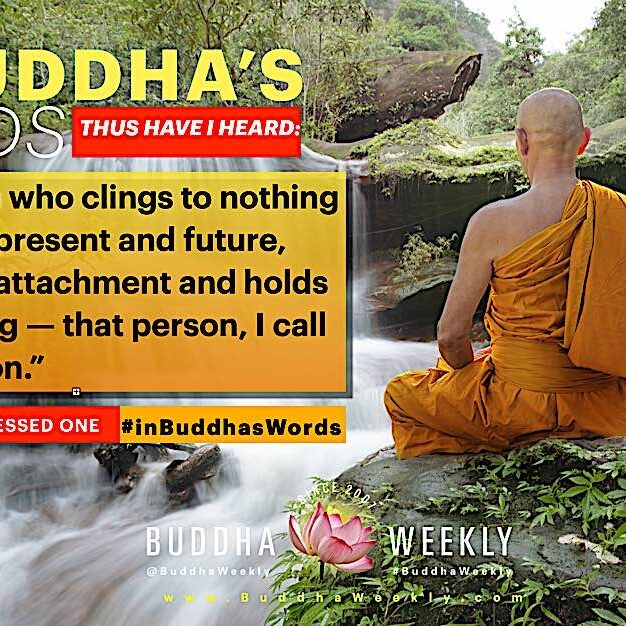 """""""The person who clings to nothing of the past, present and future, who has no attachment and holds on to nothing — that person, I call a Holy Person."""" — The Buddha, Dhammapada 421"""