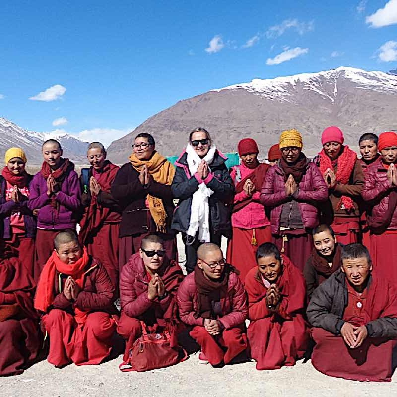 Some of the nuns of Zanskar, in one of the most remote areas of India.