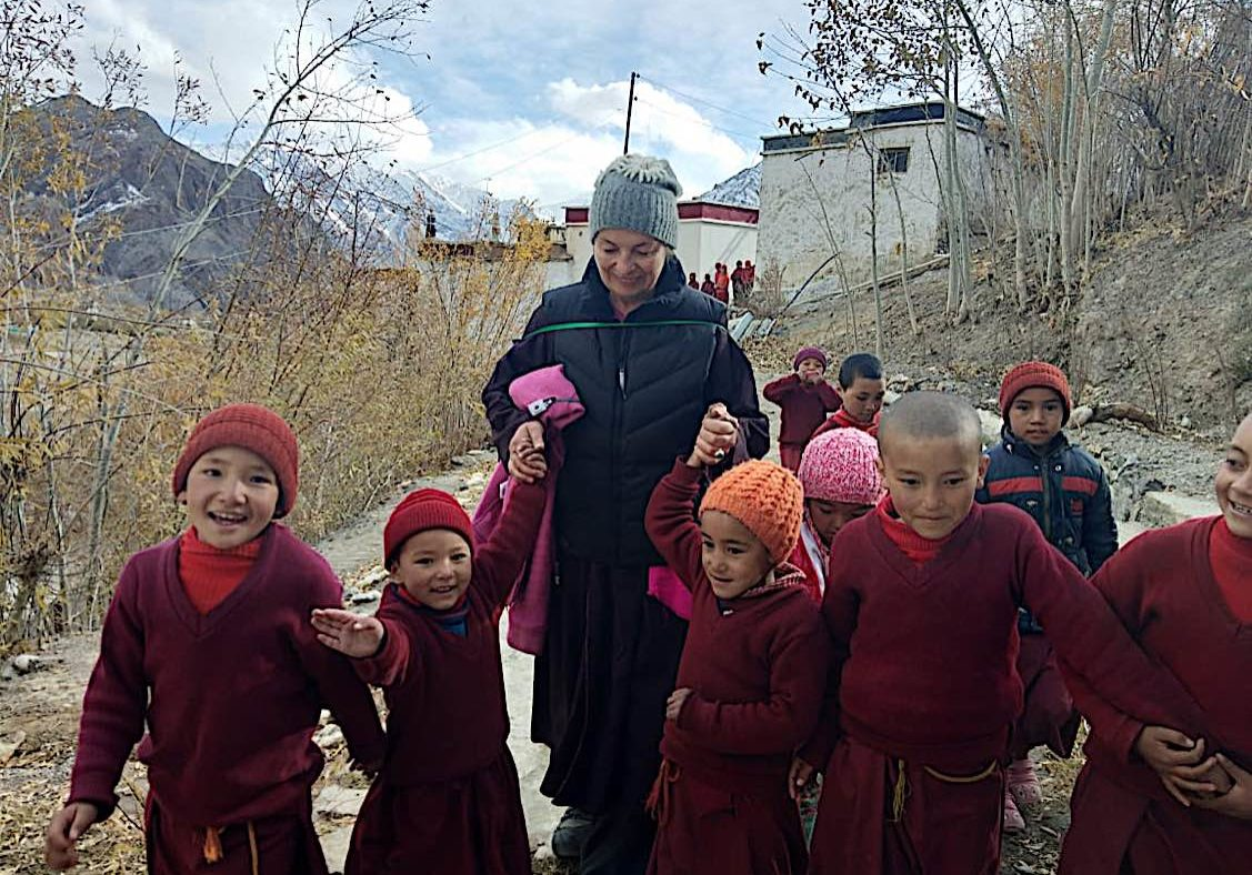 Irina from Gaden Relief visited the nuns a few months ago. Many of the nuns are children.
