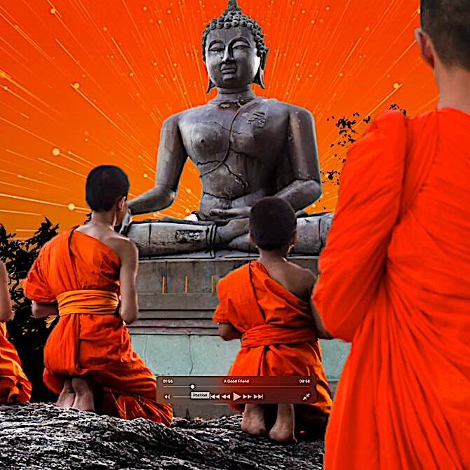 Scene from Buddha's Weekly's series of videos on the Jataka Tales, stories of Buddha's previous lives.