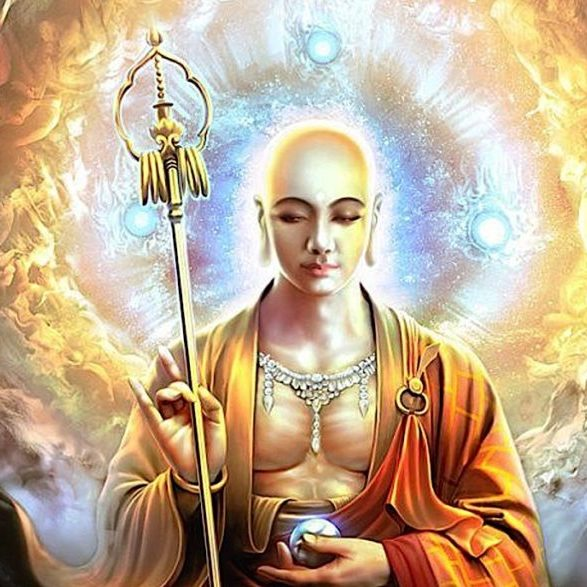 Buddha-Weekly-Ksitigarbha with wish-fulfilling gem-Buddhism