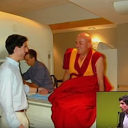 Matthieu Ricard is still smiling after a grueling, claustrophobic meditation session in an MRI. He is a monk participant in an extensive study on compassion's effect on happiness and health.
