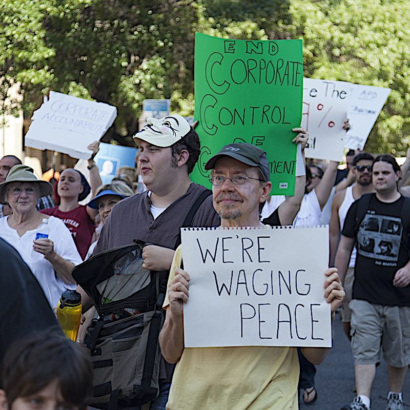 Occupy Austin — and other Occupy protests — arose spontaneously and, mostly, peacefully.