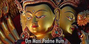 Buddha Weekly Om Mani Padme Hum Mantra chanted Yoko Dharma mantra of Chenrezig Buddhism custom crop