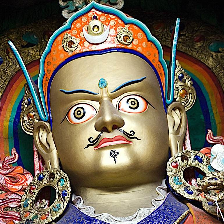 Guru Rinpoche, the Lotus Born, the second Buddha who brought Dharma to Tibet.