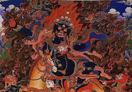 Palden Lhamo embraces the wrathful nature — our Shadow.