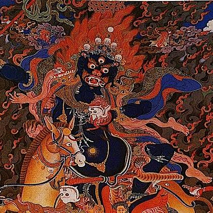 Palden Lhamo embraces the wrathful nature — our Shadow.