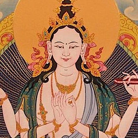 """Great Mother of Wisdom Prajnaparamita Yum Chenmo, the Face of Perfection: Wisdom Personified, the Embodiment of the """"Emptiness is Form"""""""