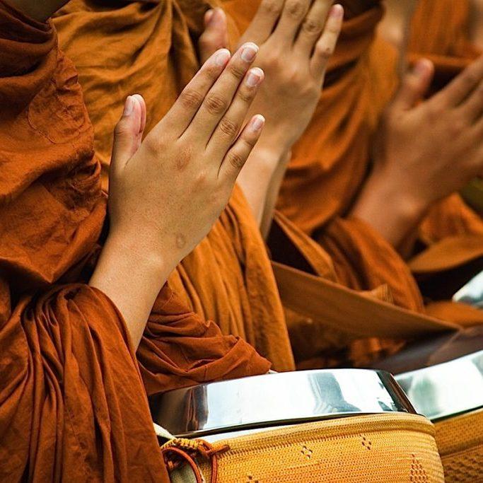 Buddha-Weekly-Praying Hands Monks-Buddhism