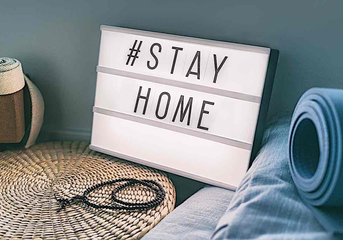 Buddha-Weekly-Stay home hashtag meditation-Buddhism