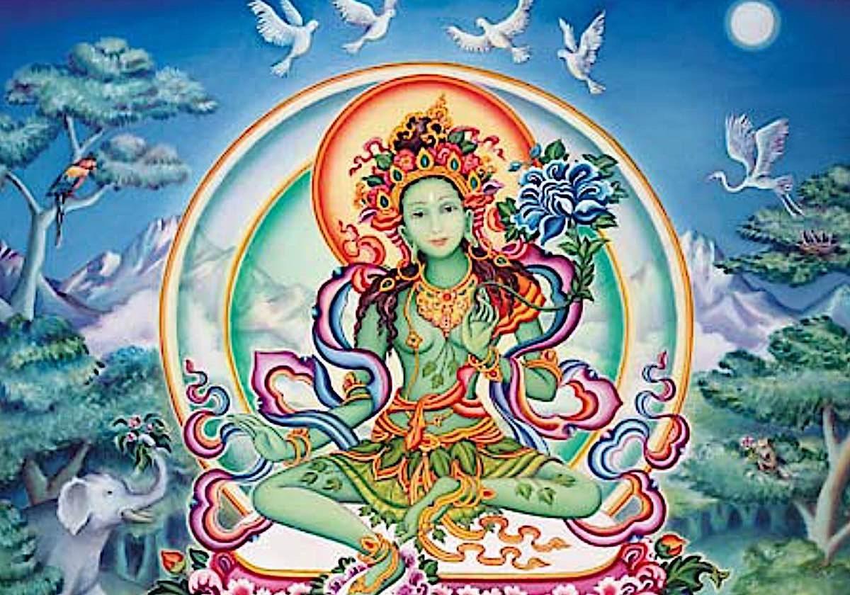 Tara of the Kandira Forest in Her Turquoise Pure Land Yulo Koepa