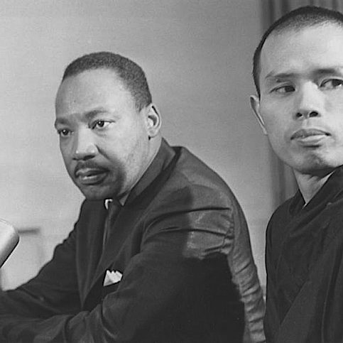 Thich Nhat Hanh with Martin Luther King Jr. 50 years after Martin Luther King won the Pacem in Terris Peace and Freedom Award, Thich Nhat Hanh became a recipient. Martin Luther King Jr. nominated Thay for the Nobel Peace Prize in 1967.