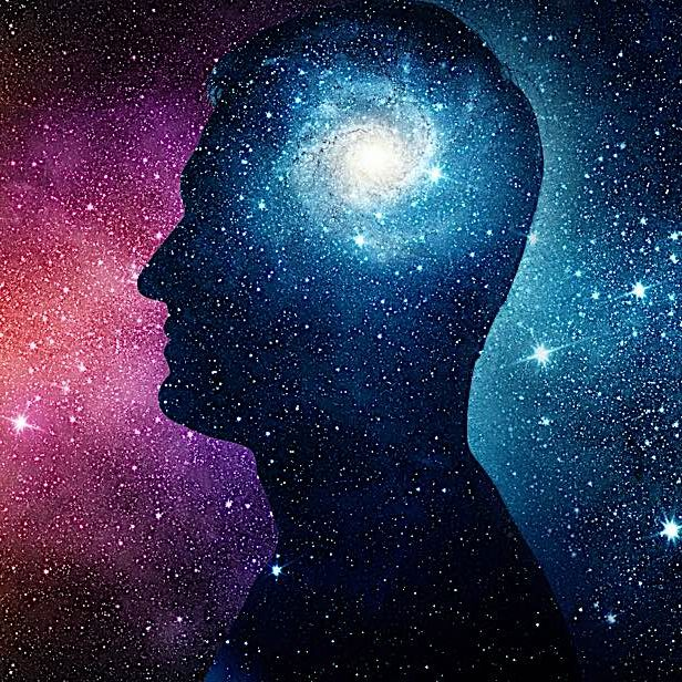 "There are approximately the same number of neurons in the human brain as there are solar masses in the Milky Way galaxy. Our minds not only ""observe"" what we perceive to be our universe, it is a shining galactic cluster made of of 100 million neurons and 100 trillion synapses."