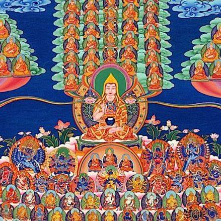 Buddha-Weekly-Tsongkhapa Gelug Refuge merit tree-Buddhism