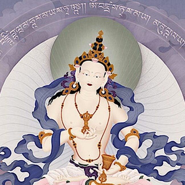 Vajrasattva, a detail from art by Jampay Dorje (Ben Christian.)