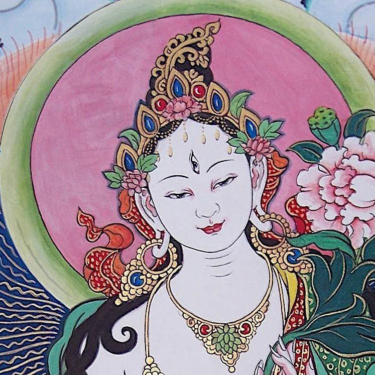White Tara, Mother of the Wisdom of the Buddhas.