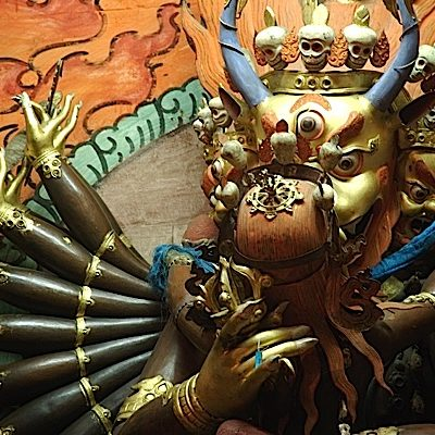 "According to some accounts, one of the reasons then-President Richard Nixon denied aid to Tibet was an image of Yamantaka in union with his Wisdom Consort. The horns might have been too much for that era, but equally the ""sex"" played a role."