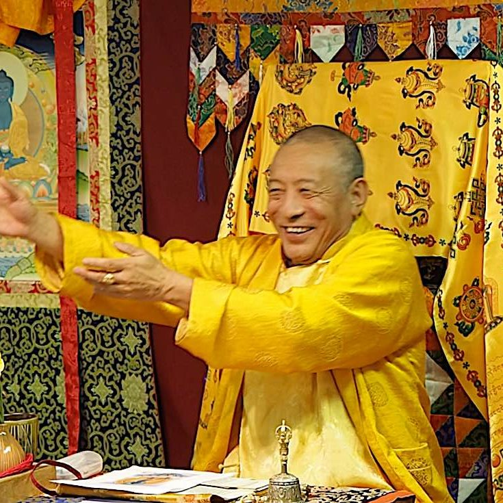 H.E. Zasep Tulku Rinpoche teaching at a previous Medicine Buddha weekend event in Owen Sound.