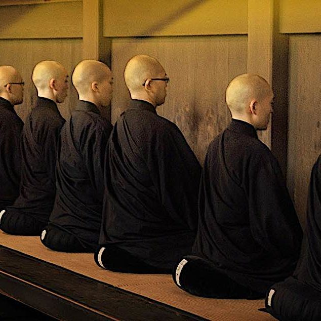 Zazen, silent sitting meditation — clasically, facing a blank wall — is, to some people synonymous with Zen.